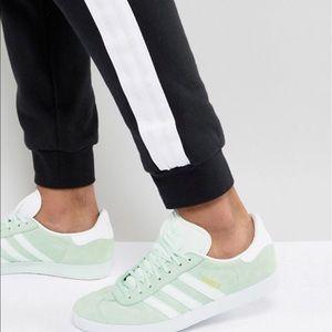 Adidas Gazelle ice Mint green sneaker shoe sz 9